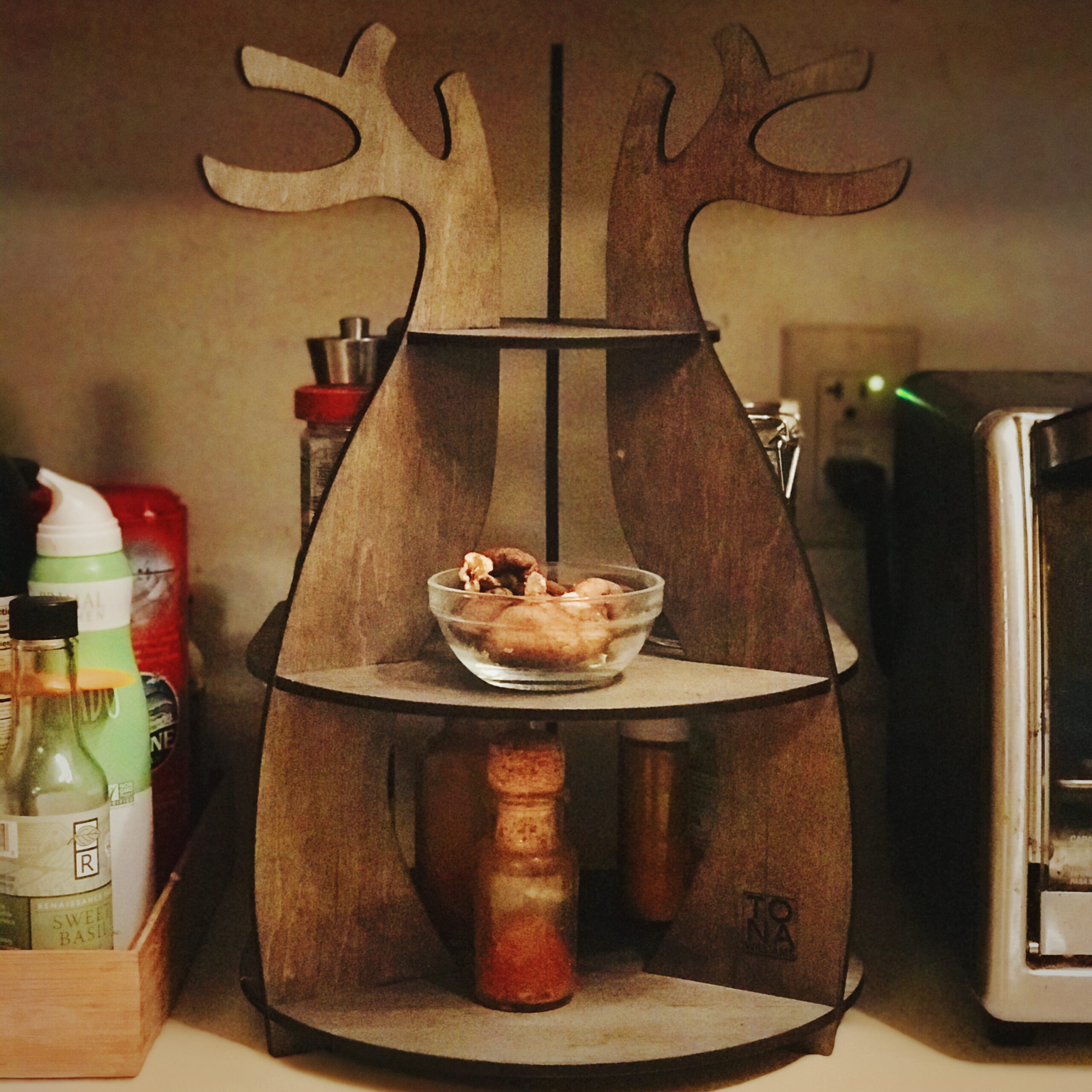 Under Cabinet Antler Shelves